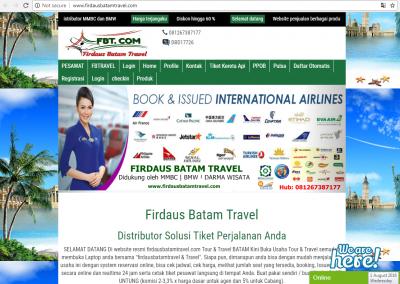jasa membuat website tour travel wisata