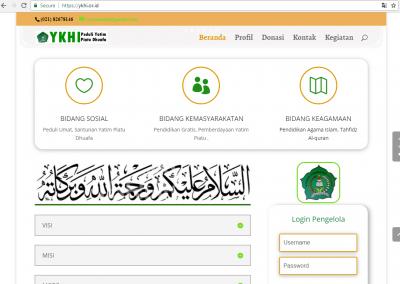 jasa website yayasan sosial ykhi